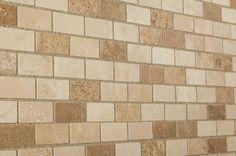BuildDirect®: Natural Stone Mosaic Mosaic Tile   Travertine   Mixed Beige Walnut Noce   Honed