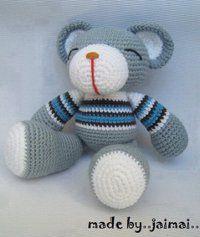 Ours Gris - Patron Crochet Amigurumi gratuit, en français ~ Amigurumi en français de K and J Dolls