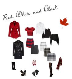 """Red, White and Black"" by deborah-strozier ❤ liked on Polyvore featuring Steffen Schraut, Crea Concept, Dolce&Gabbana, Tommy Hilfiger, H&M, BGN, Balmain, Anouki, Paul Andrew and Giuseppe Zanotti"