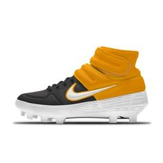 Nike Alpha Huarache Elite 2 Mid MCS By You personalisierbarer Baseballschuh. Air Max Sneakers, Sneakers Nike, Baseball Shoes, Huaraches, Cleats, Nike Air Max, Softball, Mlb, Nike Shoes Outfits
