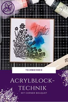 Anleitung mit Technikvideo zur Acrylblocktechnik Videos, Stampin Up, Blog, Bouquet, Cover, Crafts, Tutorials, Stamps, Manualidades