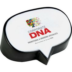 "Here's a thought - order this caption bubble stress reliever for your next promotional campaign! Measuring 2 3/4"" x 3 3/16"" x 1 3/4"" and made of squeezable foam, this handy white and black product will feature a customized imprint of your company name and logo, brand message and more in the caption bubble, making it an eye-catching handout for upcoming events. Don't stress out over your marketing efforts!"
