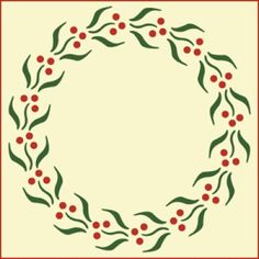 Berry Wreath Stencil | Christmas and Holiday DIY home decor and crafting stencil from The Artful Stencil! US Shipping in only 5 days. We ship all over the world.