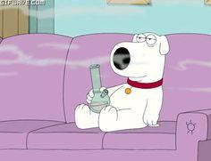 Cartoons Smoking Weed | Gif Family guy de dibujos animados de perro de fumar marihuana