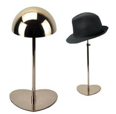 2pcs Free shipping High grade creative Loving shape Stainless Steel Hat display stand cap showing stand hat display holder rack