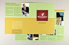 Fully editable General Business Newsletter Template complete with photos and graphics.