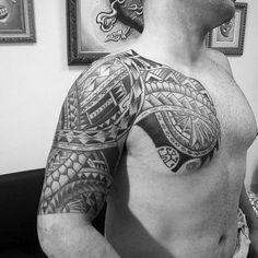 75 Half Sleeve Tribal Tattoos For Men - Masculine Design Ideas Half Sleeve Tribal Tattoos, Tribal Tattoos For Men, Half Sleeve Tattoos Designs, Tattoo Designs For Women, New Tattoos, Tattoos For Women, Tattoos For Guys, Mens Half Sleeve, Half Sleeves