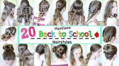 20 Back to School Heatless Hairstyles (2016) | School Hairstyles | Braid...
