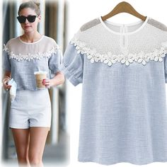 Click Instantly To Order! Summer Shoulder Netting Top  ★ Limited Sale Time Only ★ - USD$62.00