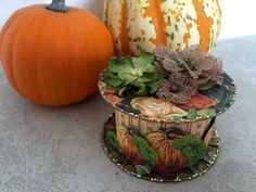 Halloween ribbon spool using Graphic 45's An Eerie Tale by Maria Cole.