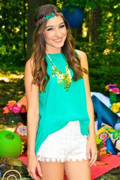 Kendall Top (Green) – Girly Girl Boutique