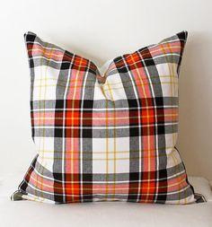 Modern Plaid Designer Pillow Cover