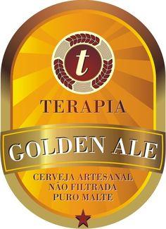 Cerveja Chopp Terapia Golden Ale, estilo American Pale Ale, produzida por Cervejaria Caseira, Brasil. 5.5% ABV de álcool.