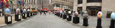 Panoramic view of the eggs at one of the streets.