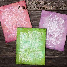 DIGITAL PAPERS Plants woodcuts 1. Printable digital | Etsy Paper Pocket, Paper Plants, Handwritten Letters, Printed Pages, Envelope Liners, Digital Papers, Collage Sheet, Junk Journal