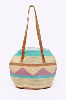 Bright Patterned Woven Bag