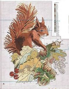 Squirrel Cross Stitch