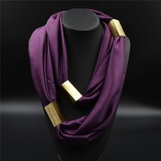 Divinity Scarves | Ninlil Silk Scarf Necklace