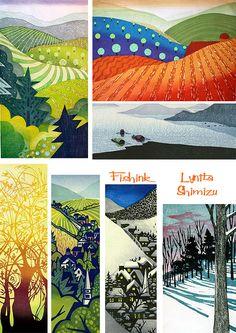 Fishinkblog 8743 Lynita Shimizu 6  During her four-year stay, she studied in Kyoto with an elderly master of traditional woodblock printmaking, Tomikichiro Tokuriki, and in Tokyo with contemporary printmaker, Yoshisuke Funasaka.