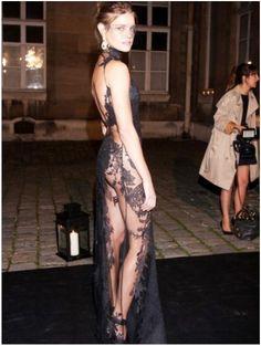 elegant sexy backless black lace evening dresses