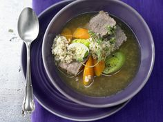Reis-Gemüse-Suppe – smarter - mit Rindfleisch - smarter - Kalorien: 364 Kcal - Zeit: 30 Min. | eatsmarter.de