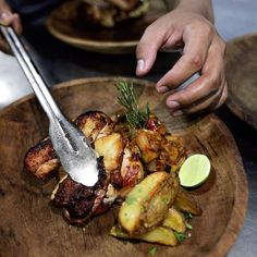 Great cooking favors the prepared hands. Come give it a try, Granny's Oven... Oven roasted marinated half chicken, grilled asparagus, lime and coriander dressing with a choice of a side...  #food #lafavelabali #restaurant #mediterraneanfood #balible #balilife #seminyak #whattodoinbali #bar #amazingbali