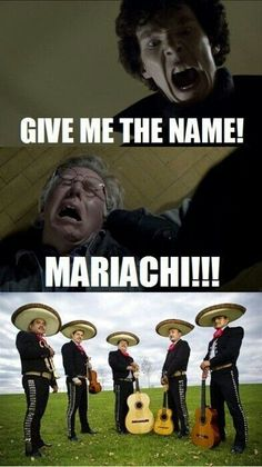 LoL. I guess they do sound similar. Moriarty - Mariachi