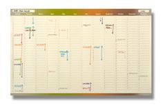 Four Seasons Wall Planner - I need one of these!