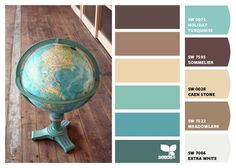Paint colors from Chip It! by Sherwin-Williams. Awesome color combinations.