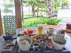 Enjoying Japanese breakfast @ The Royal Santrian  Thanks for sharing @snippetsofvie Luxury Beach Villa , Tanjung Benoa Bali , Indonesia #santrianlife #theroyalsantrian #royalsantrian #breakfast #japanesebreakfast #bali #indonesia #tanjungbenoa #thebalibible #thebaliguideline #travel #traveling #traveler