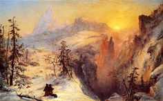 'Winter in Switzerland', Oil On Canvas by Jasper Francis Cropsey (1823-1900, United States)