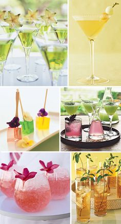 Personalize your wedding even more with a signature cocktail, use your color, favorite drink or your wedding theme as inspiration