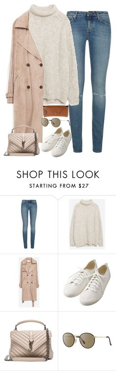 """Untitled#4281"" by fashionnfacts ❤ liked on Polyvore featuring Yves Saint Laurent, Zara, Muji and Ray-Ban"