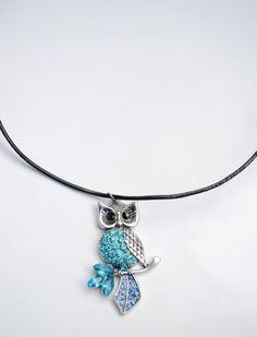 Hey, I found this really awesome Etsy listing at https://www.etsy.com/il-en/listing/204261981/blue-owl-necklace-owl-pendant-necklace