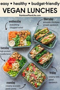Easy Vegan Lunch, Vegan Lunch Recipes, Vegan Lunches, Vegan Foods, Cooking Recipes, Healthy Recipes, Easy Vegan Dishes, Quick Easy Healthy Dinner, Healthy Vegan Recipes