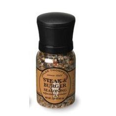 Olde Thompson 1040-10 - Disposable Mini Grinder w/ Steak & Burger Seasoning, 3.25-oz Jar