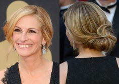 Get a Julia Roberts-approved Hollywood updo like this low, loose bun she wore to the Oscars.