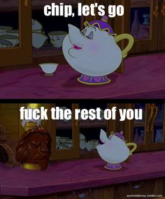 I can't be the only child who spent many sleepless nights wondering why Mrs. Potts abandoned her remaining cabinet of children.