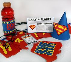 Superman Party crafts