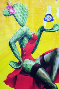 Orangina ad - The latest version of the soft drink's long-running campaign continues the anthropomorphic animal/plant love.