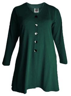 Sixteen47: Pine Green  Crepe jersey cardigan jacket     #plussizedress #plussizefashion #plussizedesigner #plussize #plussizeuk