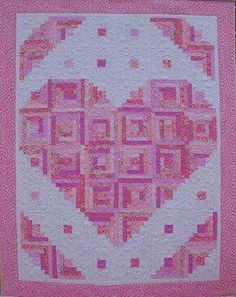 Beautiful Heart Quilt!!! Bebe'!!! So very Pretty!!!
