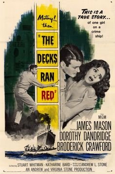 The Decks Ran Red (also called Infamy) is a 1958 M-G-M seagoing suspense drama based on the book Infamy at Sea, and directed by Andrew L. Stone. The feature starred James Mason, Dorothy Dandridge, Broderick Crawford, and Stuart Whitman. The film received generally poor reviews, but received wide viewership for Dorothy Dandridge's role. Filming took place in southern California aboard the Chios, Greece-registered SS Igor (originally the Philip C. Shera), a World War II Liberty Ship...