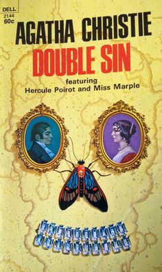 Double Sin by Agatha Christie / William Teason, illust. Agatha Christie's Poirot, Hercule Poirot, Best Mysteries, Cozy Mysteries, Miss Marple, Crime Books, Vintage Book Covers, Horror Books, Book Writer
