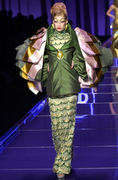 Christian Dior, 2004 Haute Couture; texture/patterning on dress bears resemblance to Ancient Sumerian kaunakes