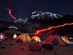 National Geographic Traveler Photo Contest 2013 - Barranco Camp at night, Kilimanjaro