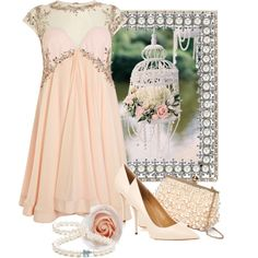 """""""Roses and Pearls"""" by doilygirl on Polyvore"""