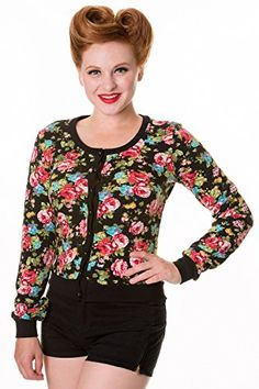 Banned Floral Vintage Cardigan – Black, Green or Pink  - See more at: http://45.gs/tl1b