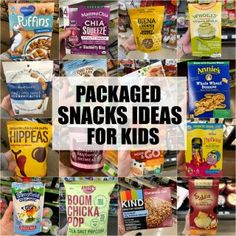 This list of healthy packaged snacks for kids (and adults too!) is meant to provide inspiration for busy parents who are looking for some new ideas. Homemade snacks are great but there are also some good store-bought snacks available! High Protein Snacks, Healthy Packaged Snacks, Healthy Store Bought Snacks, Healthy Snacks To Buy, Healthy Dinners, Weight Loss Meals, Healthy Dinner Recipes For Weight Loss, Smoothie Bowl, Smoothies