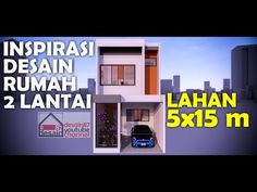 Inspirasi Desain Rumah Simple 2 Lantai Di Lahan 5x15 Meter - YouTube Architecture Portfolio, Desktop Screenshot, Channel, Simple, Youtube